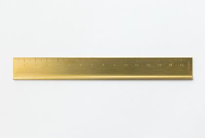 Midori ruler solid brass Liniaal