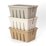 Midori Pulp Toolbox storage box white stacked