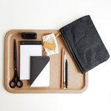 Midori paper cord pouch black