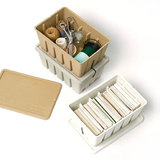 Midori Pulp Toolbox storage box white in use