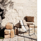 Ferm Living Desert lounge chair Black Soil