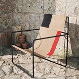 Ferm Living Desert lounge chair Cashmere Block