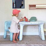 ecoBirdy Luisa table ocean set
