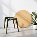 Tiptoe New Modern round table rosemary green