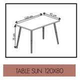 les gambettes sun table 120x80