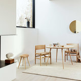 Mater Accent Dining Table 140 cm matt  whitewash
