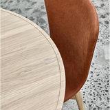 Mater Accent Dining Table matt  whitewash