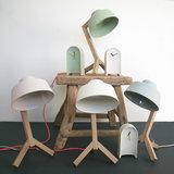 Studio Harm en Elke - Porseleinen Bureaulamp_