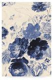 Kek Amsterdam wood print royal blue flowers