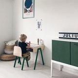 in2wood kids desk set green