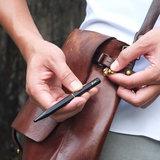 ystudio portable ballpoint pen black brassing