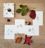 Inkylines inktober set of 31 postcards