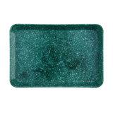 Hightide marbled melamine desk tray medium green