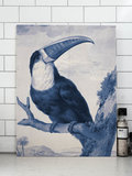 KEK amsterdam Print on wood Roya blue toucan