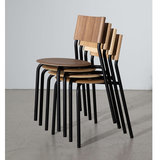 Tiptoe SSD chair black walnut stackable