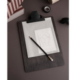 ferm living black stained wood clipboard