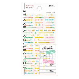 Midori Traveler's notebook Sticker Collection Plan Arrow pastel - pijlen