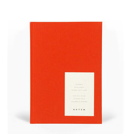 "NOTEM STUDIO Notebook ""Even"" Medium, helder rood"