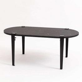 TIPTOE GENOVA recycled plastic koffietafel in zwart