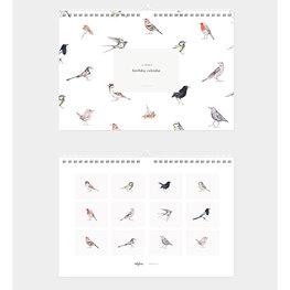 """Inkylines verjaardagkalender """"Vogels"""""""