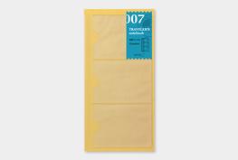 Traveler's notebook - Card file insteekhoesjes  refill 007