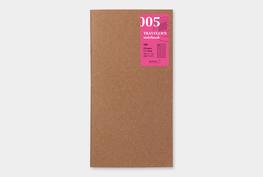 Traveler's notebook -  Free diary (daily) refill 005