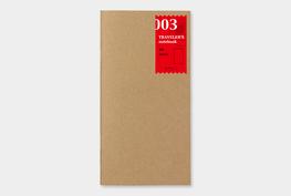 Traveler's notebook -  blanco notebook refill 003