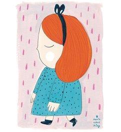 "Marta Abad Blay ""Girl 2 Laura"" poster print A2"