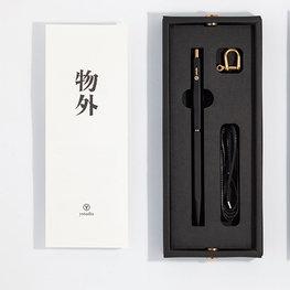 ystudio portable ballpoint pen (black brassing)