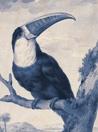 KEK Amsterdam print op hout Royal Blue Toucan BF