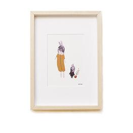 Ted & Tone Bunnies A5 print