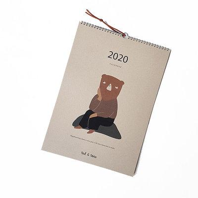 Ted & Tone A3 Kalender 2020