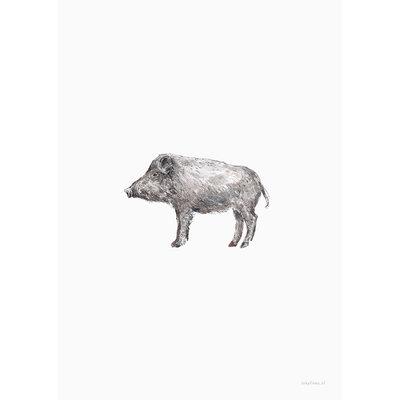 Inkylines Print Wild Zwijn A5