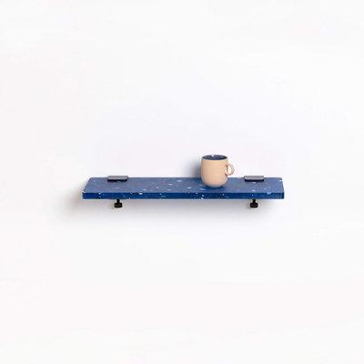TIPTOE Wandplank van gerecycled plastic blauw