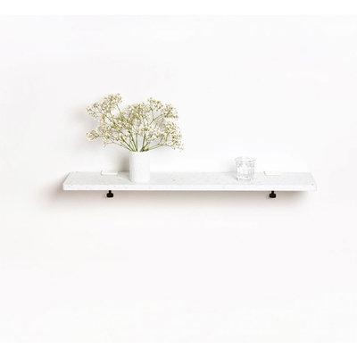 TIPTOE Wandplank van gerecycled plastic wit