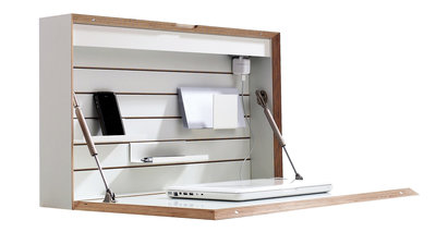 Wandbureau hoeked for Meuble mural ordinateur portable