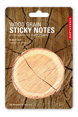 sticky notes wood grain