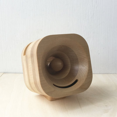 Trobla houten akoestische versterker luidspreker voor smartphone esdoorn