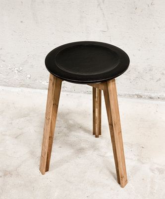 We Do Wood Button Stool - Kruk