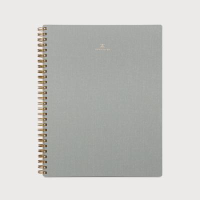 Appointed spiraal notitieboek Duif grijs  gelinieerd
