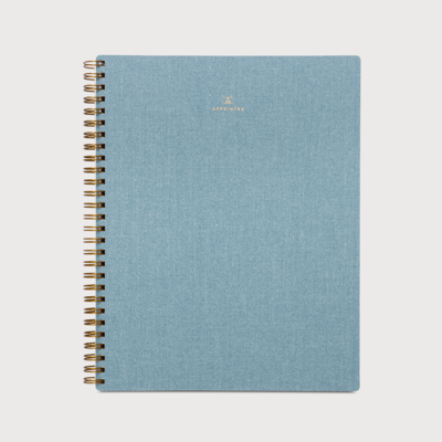 Appointed spiraal notitieboek baby Blauw - grid
