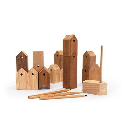 Ubikubi houten huisjes 11+1