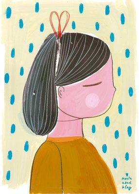 Marta Abad Blay Girl 1 poster print A2