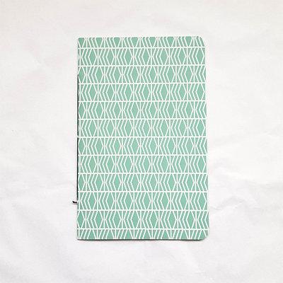 DIRIX Cahier notitieboekje Muntgroen wit motief