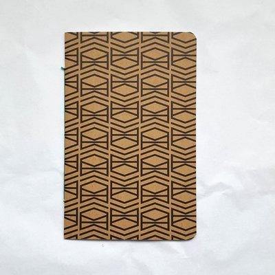 DIRIX Cahier notitieboekje Muskat Karton bruin met zwart patroon