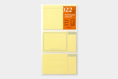 Traveler's notebook - Post-it velletjes refill 022