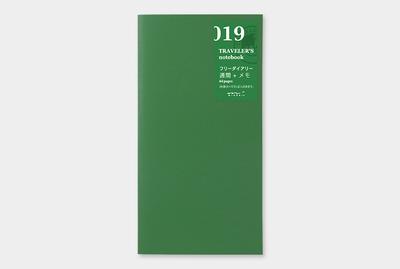 Traveler's notebook - Free diary (week + memo) refill 019
