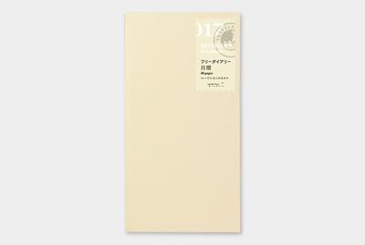 Travelers's notebook - Free diary maand agenda refill 017