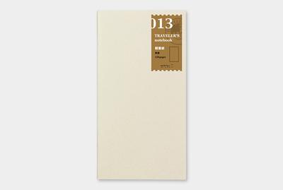 Travelers's notebook - Lightweight paper refill 013