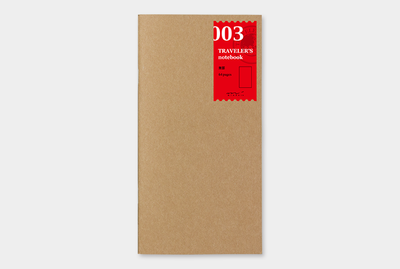 Travelers's notebook -  blanco notebook refill 003